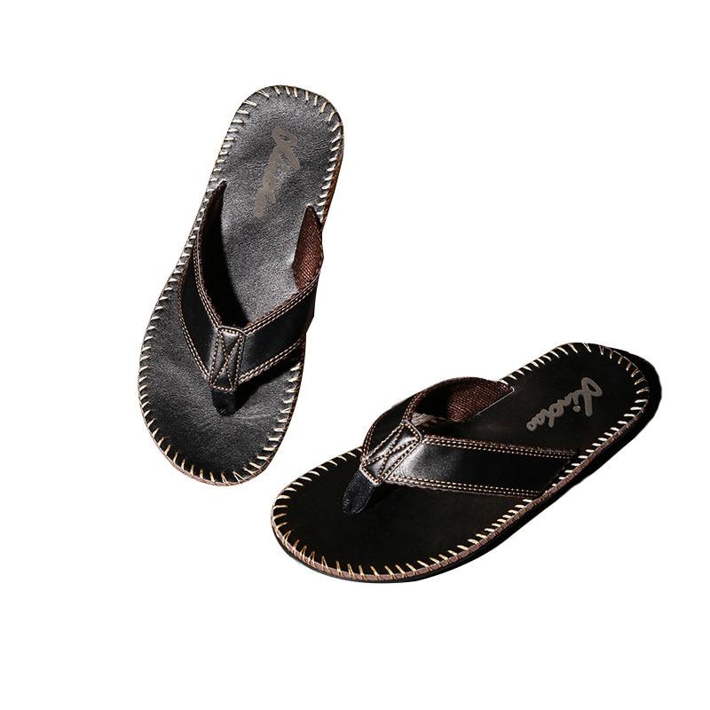2018 new trend casual flip-flops flip-flops summer non-slip wearable - Men's Shoes
