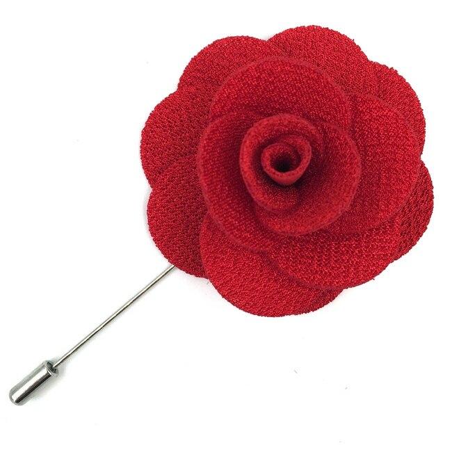 Красочные мужские нагрудные Цветы шелковые свадебные классические аксессуары жениха Мода - Цвет: Красный