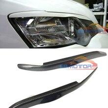 Настоящее углеродное волокно фары веки брови крышки 1 пара для Subaru Legacy 2004-2008 T065