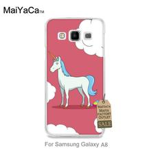 Colorful Cute phone Accessories For case GALAXY A8 Unicorn Rainbow funny