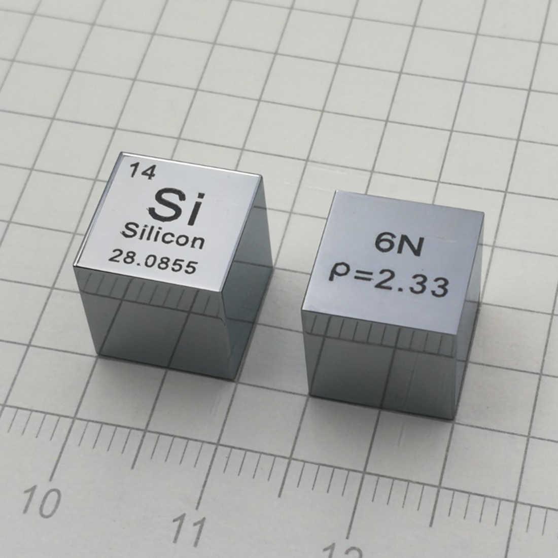 10x10x10 мм зеркальная поверхность высокой чистоты 6N монокристаллический кремниевый куб Таблица элементов куб (Si≥6N %)-без фаски