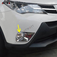 AITWATT Car Accessories For Toyota RAV4 RAV 4 2013 2014 2015 ABS Chrome Front Fog Light Lamp Cover Foglight Trims Molding 2Pcs