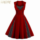 Save 0.79 on Vintage Women Dress 50s 60s Sleeveless 1950s vestido de festa 2017 Knee-Length Women's Party Dresses