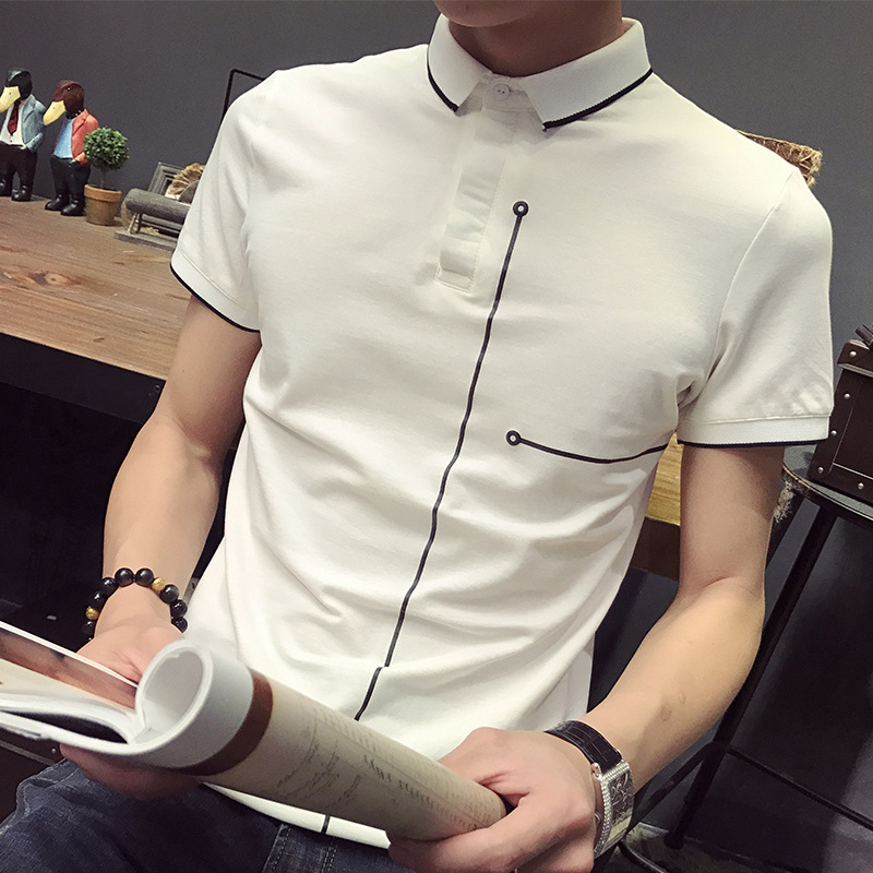 New Sale Short Sleeve font b POLO b font Shirt Casual Lapel Male font b Polo