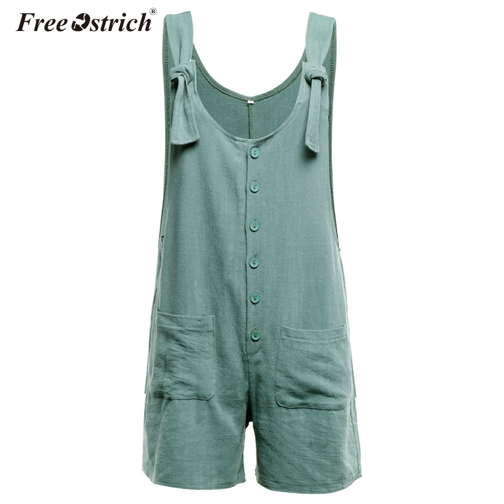 93a0df4720 Free Ostrich Women Rompers Solid Jumpsuit Summer Short Pleated Overalls  Jumpsuit Female Wrapped Strapless Playsuit N30