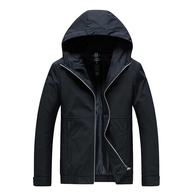 Woodvoice Jacket Men New Casual Solid Hooded Jackets Male Fashion Zipper Outwear Slim Fit Spring Autumn Clothing High Quality