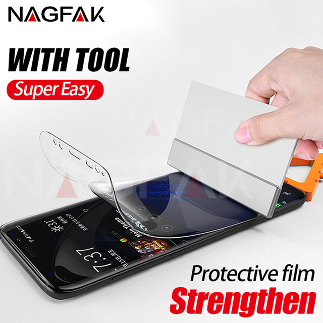 US $3 29 |NAGFAK 0 15mm Screen Protector For Samsung Galaxy S9 S8 Plus  Note8 Film Screen Protector film For Samsung S6 S7 Edge Not Glass-in Phone
