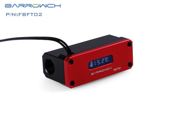 Barrowch FBFT02-V3, измеритель температуры охлаждения воды, многомодовый OLED цифровой смарт-дисплей, температура в реальном времени