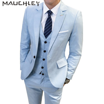 Tuxedos for Men Prom Suits Slim Fit 3 Pieces Mens Suits With Pants ...