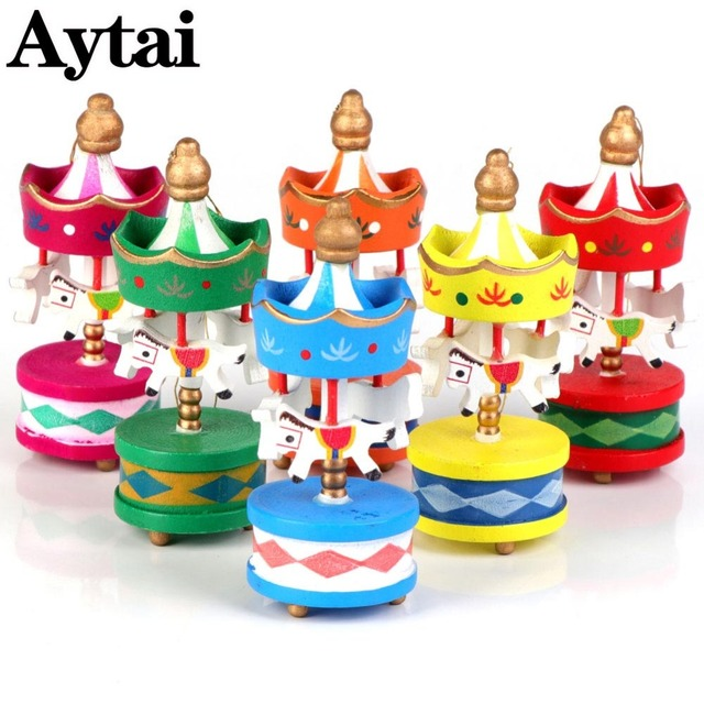aytai christmas wood carousel horse ornaments carousel designs christmas tree decoration multicolour party supplies 83x3 - Christmas Carousel Decoration