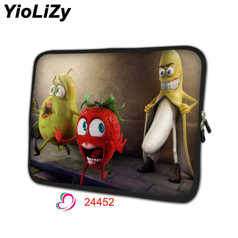 banana print laptop bag pouch 7 9.7 11.6 13.3 14 15.6 17.3 inch notebook liner sleeve Ultrabook protective case cover NS-24452