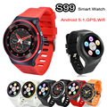 Heart Rate Android 5.1 Smart Watch Phone GSM 3G WCDMA ZGPAX S99 Quad Core 4GB 3.0M HD Camera GPS Wifi FM Bluetooth Smartwatch