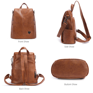 Image 4 - POMELOS Backpack Female Designer New Women PU Leather Backpack Anti Theft High Quality Soft Back Pack Backpacks School Bags