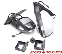 купить For VW Tiguan 5N Mirror With Cover AUTO folding electric folding Mirror Switch GLASSES Cover  5ND857501A 5ND857508A дешево