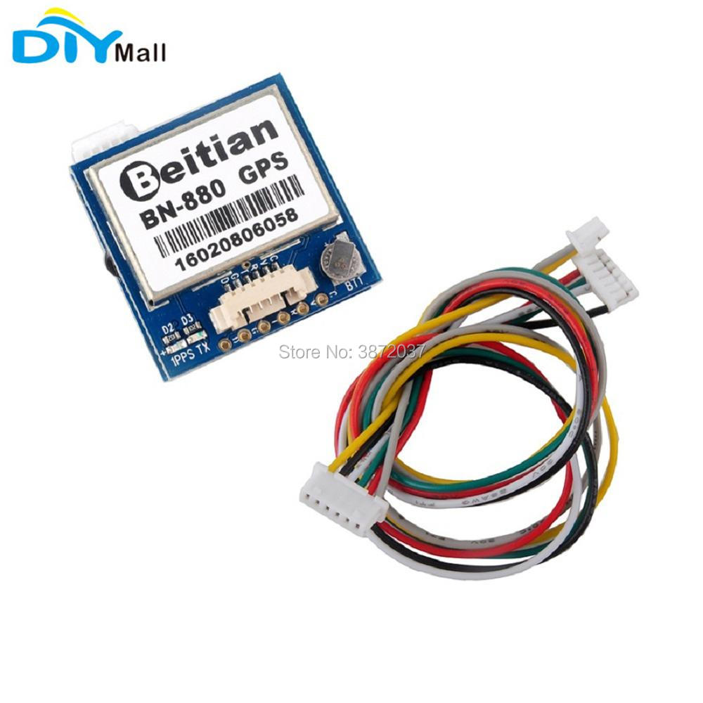 <font><b>Beitian</b></font> <font><b>BN</b></font>-<font><b>880</b></font> GPS Module with Flash Compass GPS Glonass BeiDou + Active Antenna for Arduino Aircraft FPV RC Flight Controller image