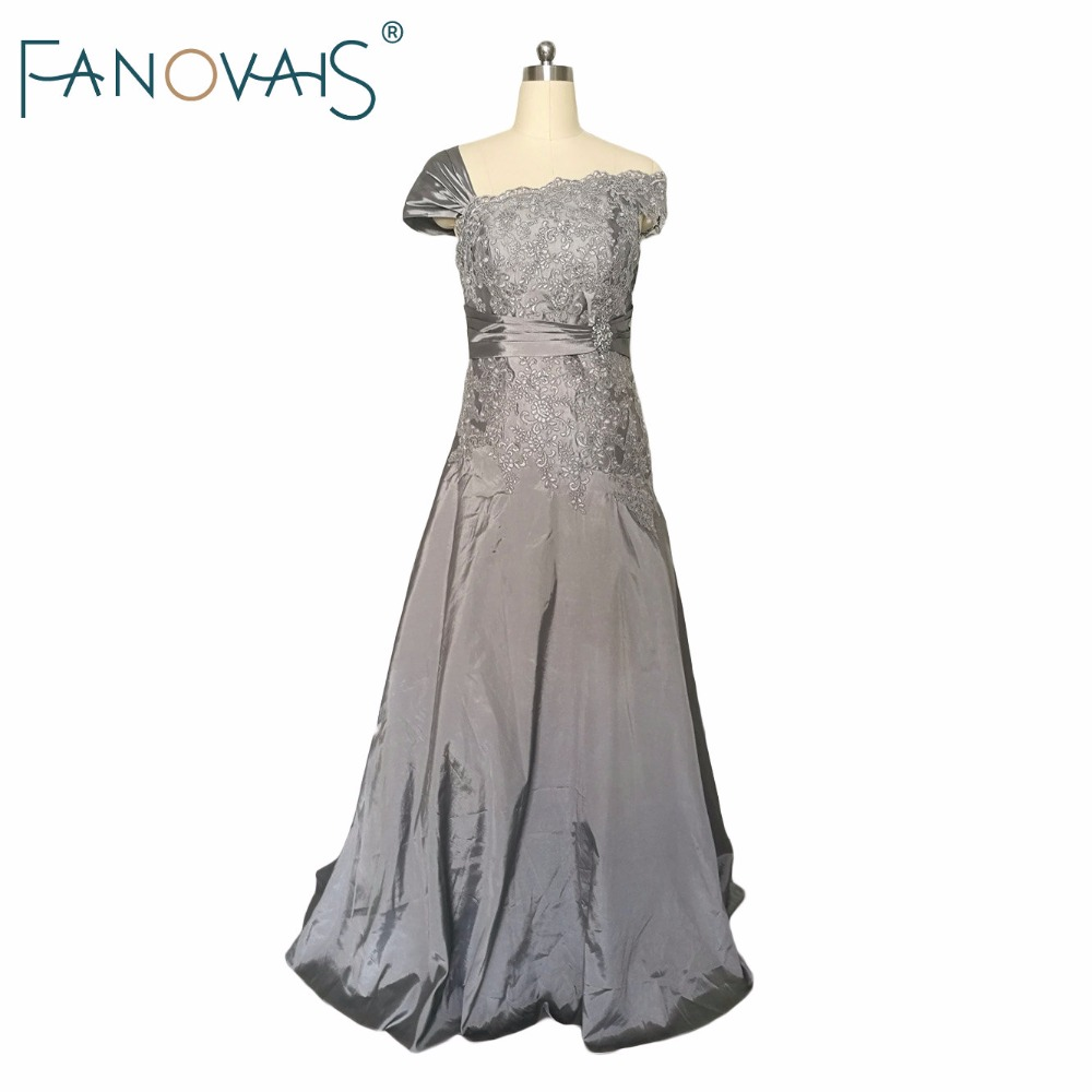 Taffeta silver mother of the bride dresses elegant groom for Silver dresses to wear to a wedding