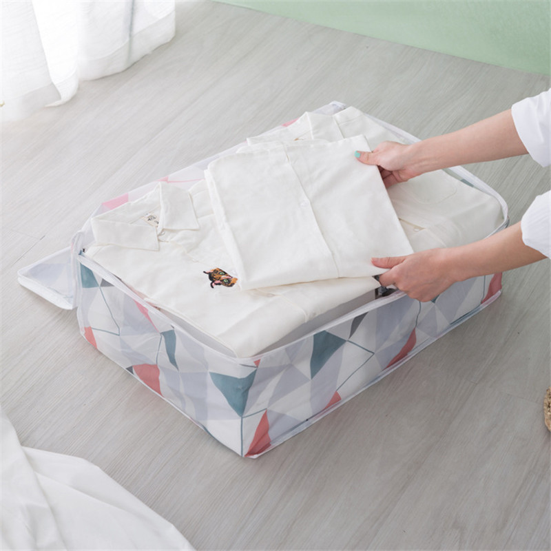 New Printed Quilt Bag Dustproof and Dampproof Storage Box Waterproof Luggage Moving Clothes Organizing