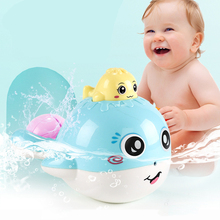 Whale Spray Water Baby Bath Toys Toy Educational For Children Bathroom Swimming Spraying Tool