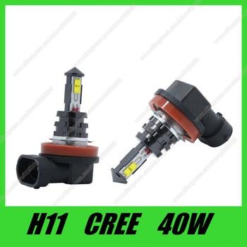 H11 bombilla Led 40W de alta potencia Ultra brillante H7 H4 P13W H11 luz antiniebla DE COCHE luz antiniebla 720LM fuente de luz blanca para coche envío gratis