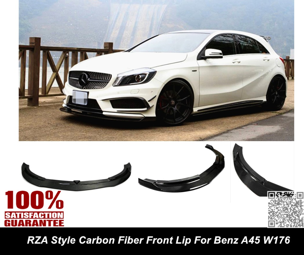 Aliexpress com buy w176 a45 front lip rza style carbon fiber front lip splitter for benz a45 a250 a260 sport w176 from reliable a45 front lip suppliers