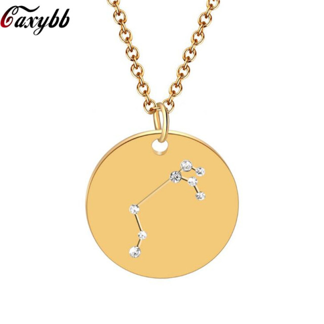 Trendy Pendant Necklace Cancer Zodiac Necklace Gift Women Zodiac