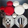 Прекрасный Микки Маус Меламиновой плиты Торты закуски блюдо из риса HYLD679