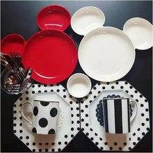 цена на lovely Mickey Mouse  Melamine plate Cakes  snacks rice dish HYLD679