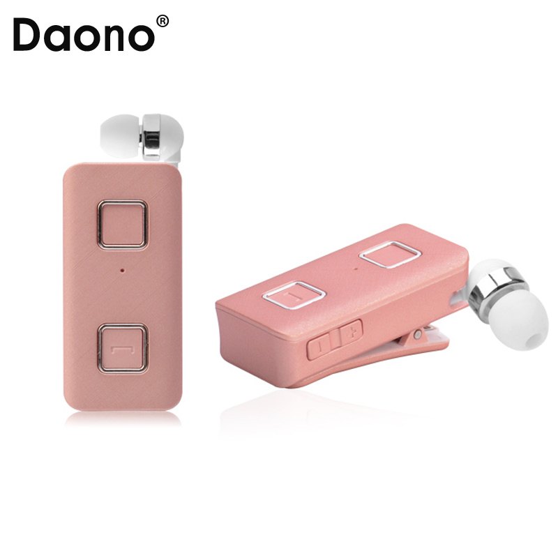 DAONO K35 Bluetooth Earphone Wireless Sport Earbuds Headset with Microphone Hands-free Call Remind Vibration Wear Clip Driver