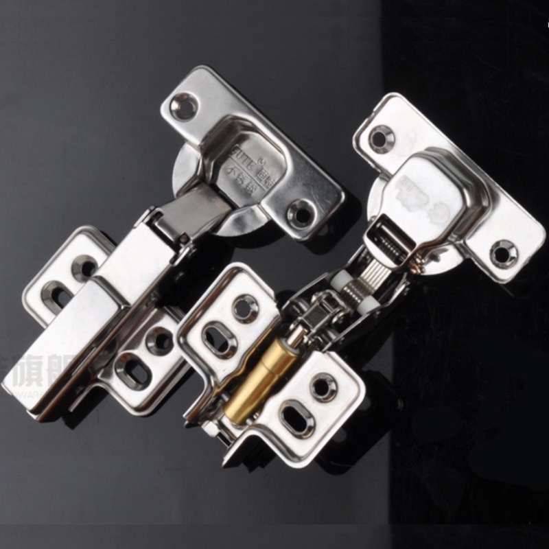1x Cabinet Cupboard Hinge Undetachable amping Self-closing Hydraulic Concealed Stainless Steel Full Half Overlay Inset Hinge 1 pair viborg sus304 stainless steel heavy duty self closing invisible spring closer door hinge invisible hinges jv4 gs58b