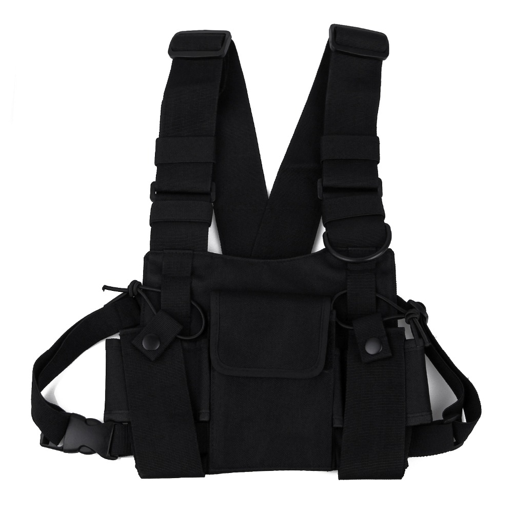 Camping & Hiking Outdoor Tactical Vest Wireless Call Machine Vest Vest Chest Bag Holster Bag Climbing Bags