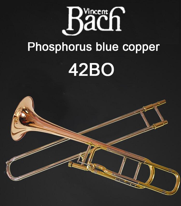 Los Estados Unidos Bach BACH 42BO trombón drop B cambio de tono melodía cobre fósforo profesional instrumento musical envío gratis