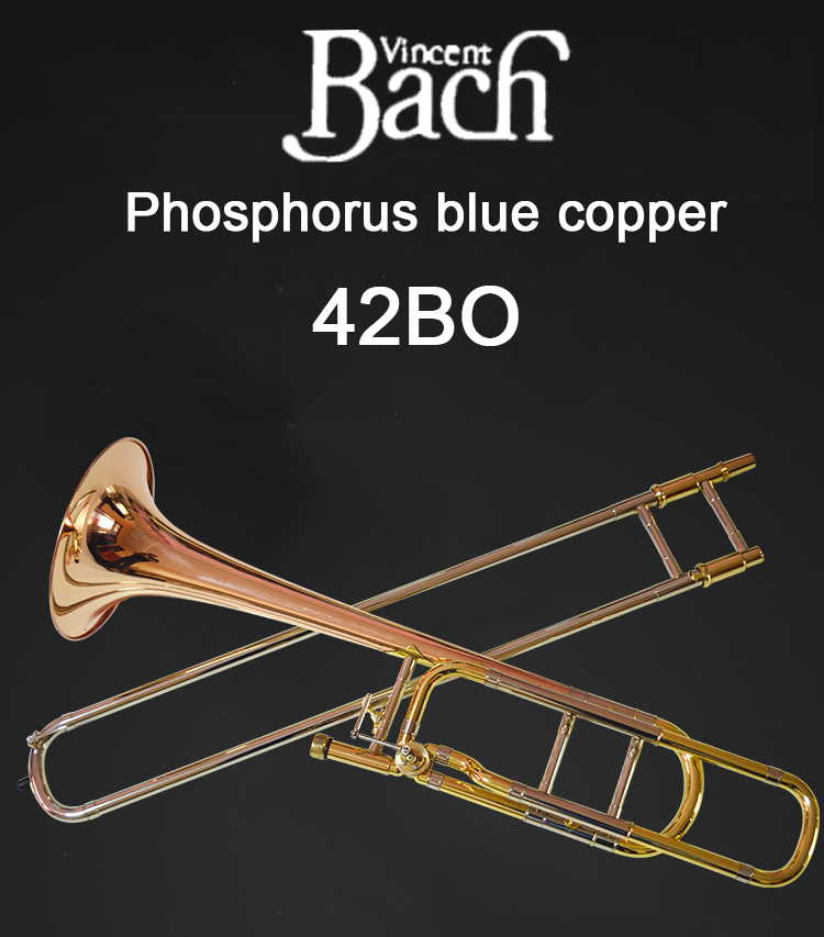 United States Bach BACH 42BO Trombone drop B tone change tune Phosphorus Copper Professional musical instrument
