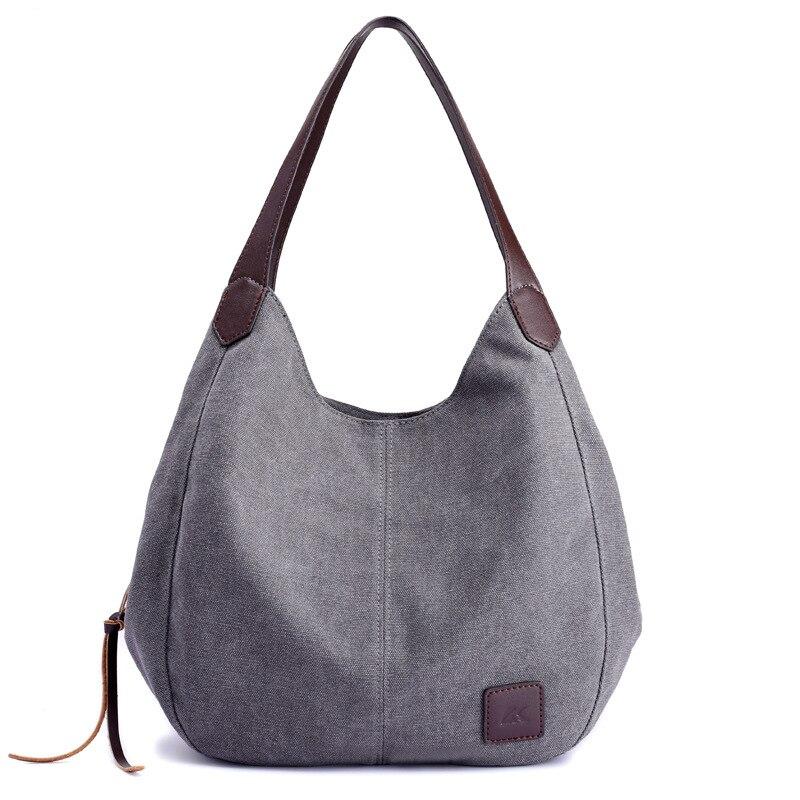 2019 décontracté grande capacité femmes sacs à bandoulière grand fourre-tout femmes Messenger sacs célèbres Designers toile dame sacs à main en gros