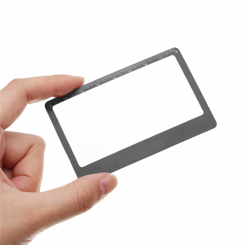ea6eec23b3b5 Transparent Credit Card 3 X Magnifier Magnifying Lens Outdoor Pocket HD  Reading Glasses 8.5*5.5cm High Quality