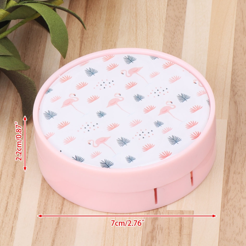 Contact Lens Box Portable Round Lens Case Storage Container Travel Lens Box Kit With Mirror 8 Style