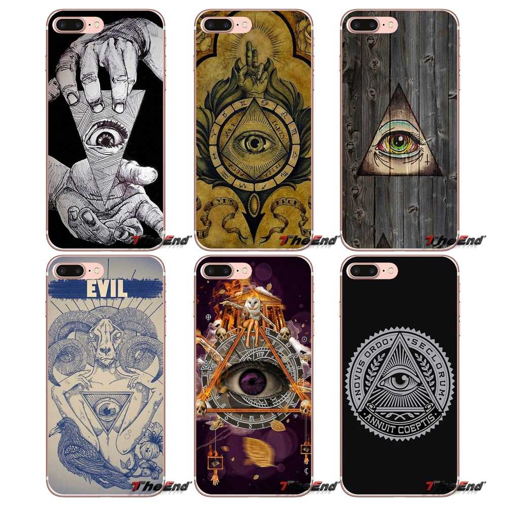 Illuminati Simbol Mata Piramida Soft Case untuk iPhone 4 4S 5 5S 5C Se 6 6S 7 8 PLUS Samsung Galaxy J1 J3 J5 J7 A3 A5 2016 2017