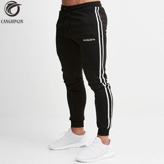 37bfa61db8c6 CANGHPGIN Skinny Sport Leggings Men Running Sweatpants Sportswear Joggers  Tights Mens Gym Fitness Pants Elastic Cotton Trousers