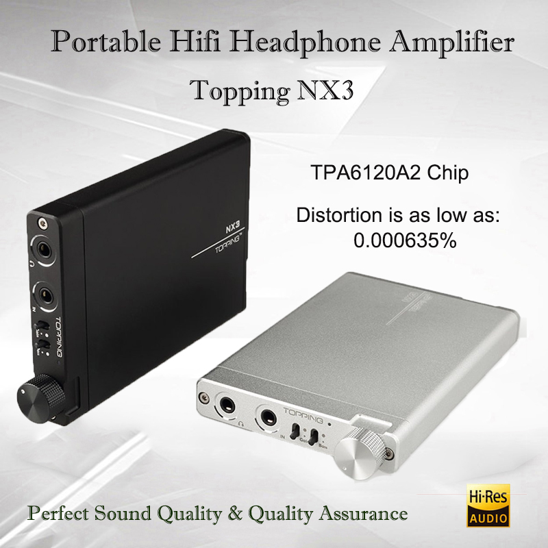 Topping NX3 headphone amplifier dac audio player volume control amplifier audio dac amp portable amplifier headphone amp topping nx3 portable headphone amplifier audio tpa6120a2 hifi headphone amp mini amplifier headphones cheap earphone amplifier