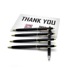 Good Quality Ballpoint Pen High Quality Silver And Golden Clip Roller Ball Pen gel to soul Supplies Hot DIY LOGO