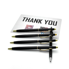 Good Quality Ballpoint Pen High Silver And Golden Clip Roller Ball gel to soul Supplies Hot DIY LOGO