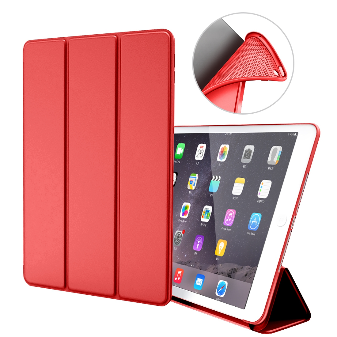 For iPad Mini 1 2 3 4 Smart Case Cover Soft TPU Silicone Back PU Leather Flip Stand the tablet Auto Sleep/wake for ipad 7.9 inch dhl ems ups free 3 folder folio stand pu leather soft tpu silicon flip auto sleep cover case for apple ipad pro 9 7 tablet