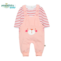 Spring Cute Baby Clothing Sets Infant Baby Girls Clothes Suit Top T Shirt Pant 2pcs Cotton