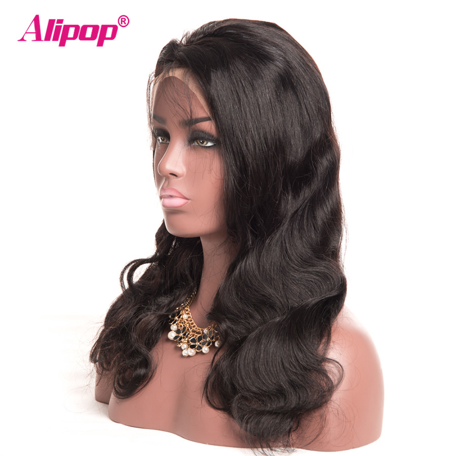 360 Lace Frontal Wig Peruvian Body Wave Lace Front Human Hair Wigs With Baby Hair Remy