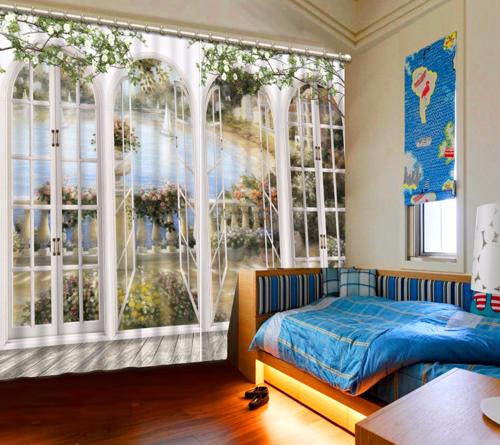 3D Luxury Curtains Printing Blackout Curtains For Living Room Bedroom Window Decoration Drapes3D Luxury Curtains Printing Blackout Curtains For Living Room Bedroom Window Decoration Drapes