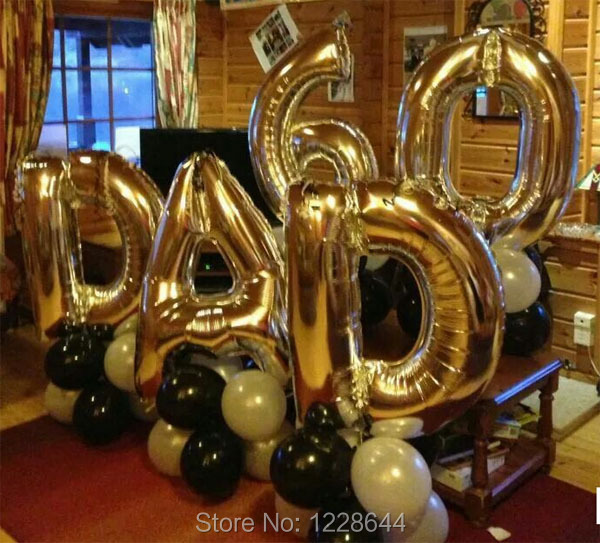 party decoration alphabet helium balloons letter number aluminum foil balloon size 30inch 100 pieceslot