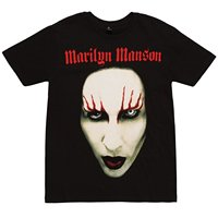 Marilyn Manson Close Up Adult T Shirt Summer Short Sleeve T Shirts Tops S 3Xl Big