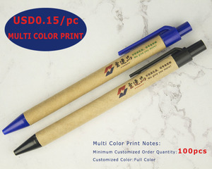 Image 4 - Lot 50pcs ECO Paper Ball Pen Black Ink Ballpoint Green Concept Custom pen Promotion Logo Gift Giveaway Personalized Pen Freebie