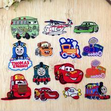 Coches de dibujos animados de Hierro-on o Coser-Ropa bordada Patch niños accesorios de la ropa mezclan estilos 14 unids / lote TCP078