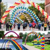 5x4m Balloon Column Stand Wedding Balloons Arch Stand Frame Base Wedding Decoration Birthday Balloons Accessories Party Supplies