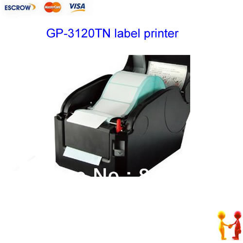 USB bar code printer direct thermal for 3 label sticker GP-3120TN,203dpi barcode printer 58mm label barcode printer with direct thermal label and adhesive sticker pritner usb gp2120t for coffee store